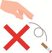 タバコポイ捨て禁止 クリップアート プリントアウトファクトリー