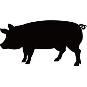 豚のシルエット クリップアート プリントアウトファクトリー Myricoh