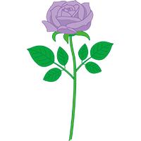 紫のバラ クリップアート プリントアウトファクトリー Myricoh