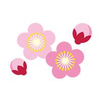 梅の花 クリップアート プリントアウトファクトリー Myricoh