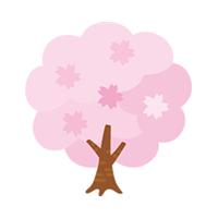 桜の木 クリップアート プリントアウトファクトリー Myricoh