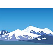 雪山 クリップアート プリントアウトファクトリー Myricoh